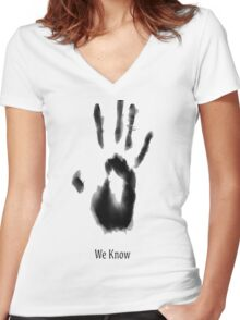 Join The Dark Brotherhood Women's Fitted V-Neck T-Shirt