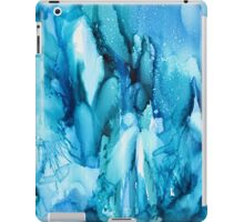 Blue Waterfall Abstract alcohol ink iPad Case/Skin