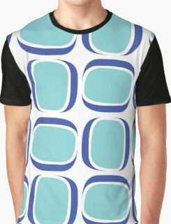 Blue Box Neo Retro Pattern Graphic T-Shirt