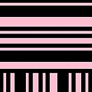 Parisian Pink and Black Stripes by Greenbaby