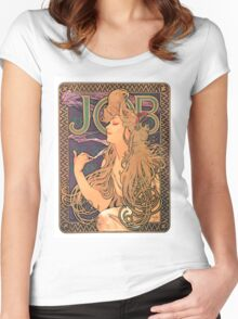 Vintage poster - JOB Cigarettes Women's Fitted Scoop T-Shirt