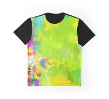 Abstraction in Green Graphic T-Shirt