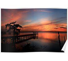 Beautiful St. Johns River Sunset Poster