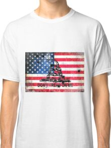 Viper N Bullet Holes On Old Glory Classic T-Shirt