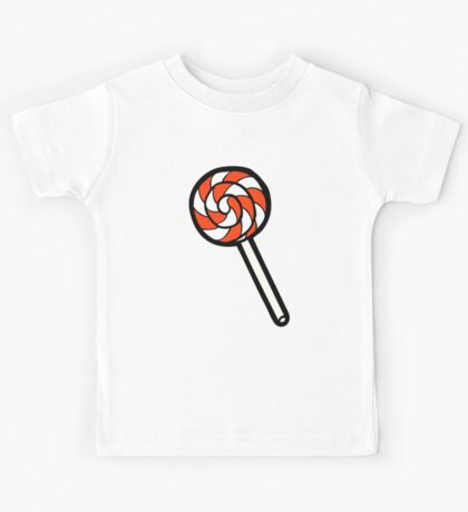 Red, white and blue lollipop pattern Kids Tee