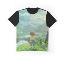 Ni No Kuni Oliver and Drippy Graphic T-Shirt