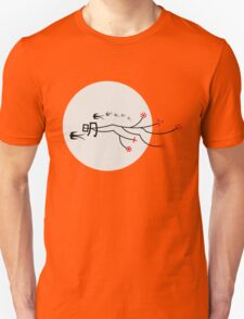 Oriental Swallows And The Bright Round Moon Unisex T-Shirt