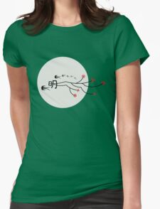 Oriental Swallows And The Bright Round Moon Womens Fitted T-Shirt