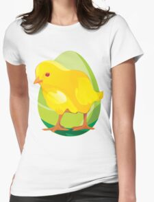 chicken and Animal cartoon Womens Fitted T-Shirt
