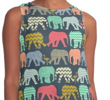 baby elephants and flamingos Contrast Tank