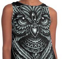 Hand Inked Night Owl Contrast Tank