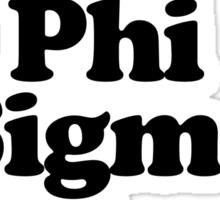 I Heart Love Phi Sigma Rho Sticker