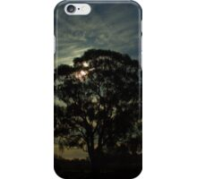 Silhouetted gumtree iPhone Case/Skin