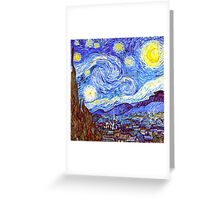 The Starry Night HDR Greeting Card
