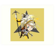 OVERWATCH - MERCY CHIBI Art Print