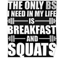 Breakfast and Squats Poster