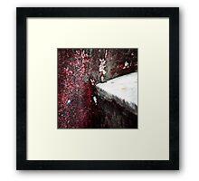 { Corners: where the walls meet #06 } Framed Print