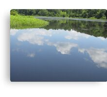 Clouds reflection On Lake Canvas Print