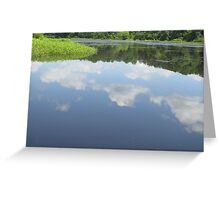 Clouds reflection On Lake Greeting Card