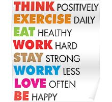 Think Positively Poster