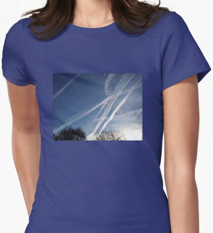 Jet Stream Beauty Womens Fitted T-Shirt