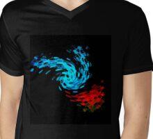 Night Butterfly Mens V-Neck T-Shirt