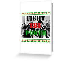 Fight the Power Greeting Card