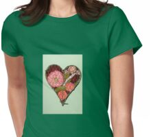 Heart Shaped Wall Decoration Womens Fitted T-Shirt