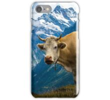 Grindelwald Cow - Bernese Alps - Switzerland iPhone Case/Skin