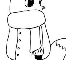 Cozy Winter Fox Sticker