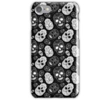 Sugar Skulls Black and White iPhone Case/Skin