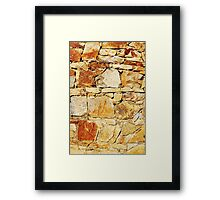Stacked Stone Framed Print