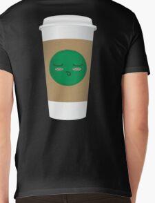 Blushing Coffee Cup Mens V-Neck T-Shirt