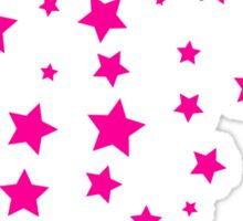 Many star night sky shower pink Sticker