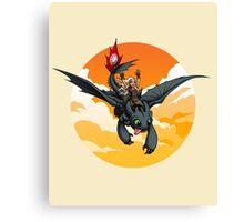 Toothless Targaryen Orange Canvas Print