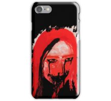 Creppy scary horror Lady iPhone Case/Skin
