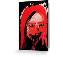 Creppy scary horror Lady Greeting Card