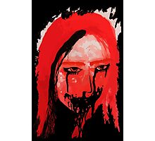 Creppy scary horror Lady Photographic Print