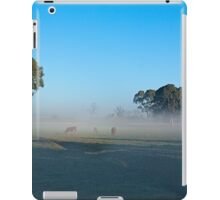 Cows grazing in lifting fog, Murray Bridge SA iPad Case/Skin