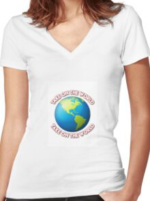 Take On The World - Girl Meets World Women's Fitted V-Neck T-Shirt