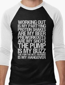 Working Out Is My Partying Men's Baseball ¾ T-Shirt