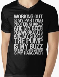 Working Out Is My Partying Mens V-Neck T-Shirt