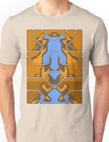 Orange Organic Grid Design Unisex T-Shirt