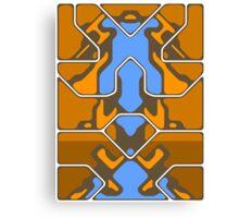 Orange Organic Grid Design Canvas Print