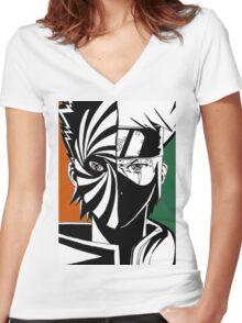 Kakashi Sensei Women's Fitted V-Neck T-Shirt