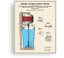 Beverage Mixer Patent Canvas Print