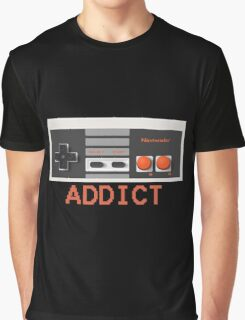 NINTENDO ENTERTAINMENT SYSTEM (NES) ADDICT Graphic T-Shirt