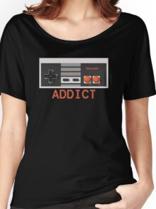 NINTENDO ENTERTAINMENT SYSTEM (NES) ADDICT Women's Relaxed Fit T-Shirt