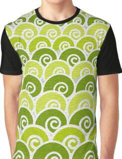 Green Beach Waves Graphic T-Shirt