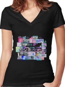 S A D B O Y  Women's Fitted V-Neck T-Shirt